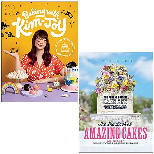Baking with Kim-Joy Cute and creative bakes to make you smile By Kim-Joy and The Great British Bake Off The Big Book of Amazing Cakes By The Bake Off Team 2 Books Collection Set