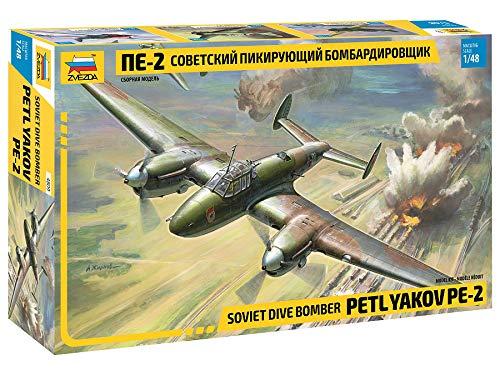 Zvezda 1/48 Soviética Bombardero PE2 Petliakov PE-2 # 4809