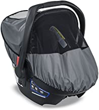 Britax B-Covered All-Weather Infant Car Seat Cover with UPF 50+   Waterproof Rain and Wind Shield + Ventilated Mesh Window for Insect Protection
