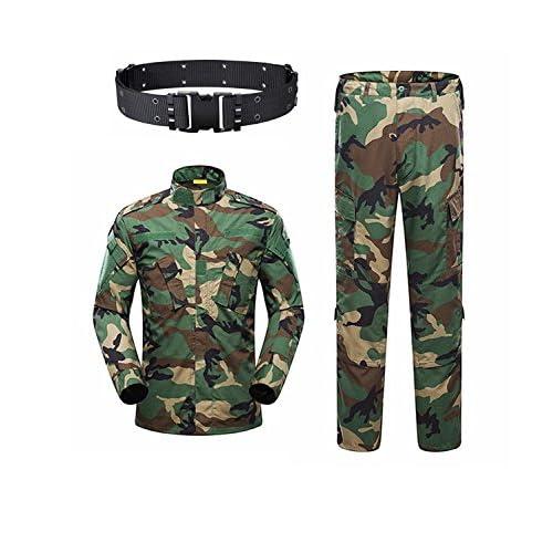 KYhao - Traje táctico Militar de Camuflaje para Hombre, Caza, Combate BDU, Camisa