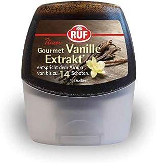 RUF Gourmet Vanille-Extrakt, entspricht dem Aroma von 14 Vanille-Schoten, Vanille-Paste aus echter Tahiti-Vanille, in praktischer Squeeze-Flasche, 70g