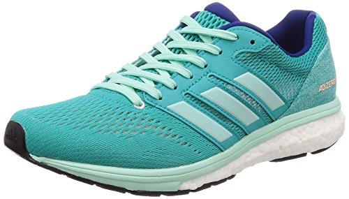 adidas Women's Adizero Boston 7 W Running Shoes, Blue (Hi-Res Aqua F18/Clear Mint F18/Mystery Ink F17), 5.5 UK