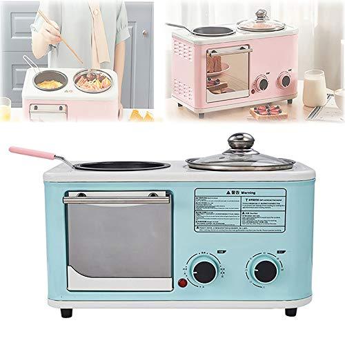 Frühstücksmaschine, Multifunktionale Sandwich-Frühstücksmaschine, Haushalts-4-in-1Unabhängige Temperaturregelung Antihaftbeschichtung,Blue