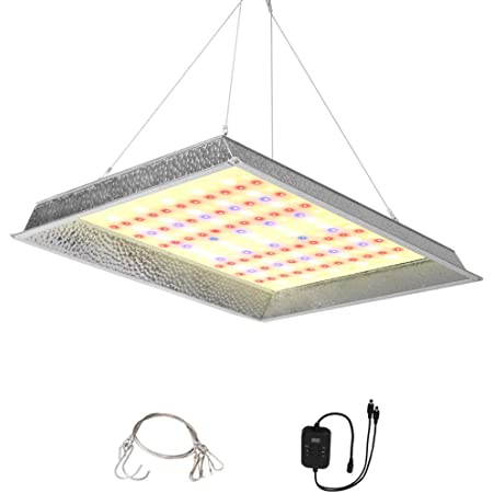 JCBritw 1000W LED Grow Light Veg Bloom Switch Dimmable with Timer Function IP65