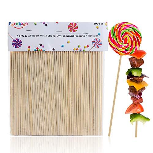 FORMIZON Bastoncini per Cake Pops, 200 Pezzi Bastoncini Legno per Fai da Te, 18 cm, Cake Pop Lollipop Sticks Bastoncini per Lecca-Lecca, Mele Caramelle, Artigianato in Stecche di Legno, Decorazioni