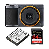 Ricoh GR III Street Edition Digital Camera with Spare Battery and 64GB SD Card Bundle (3 Items)