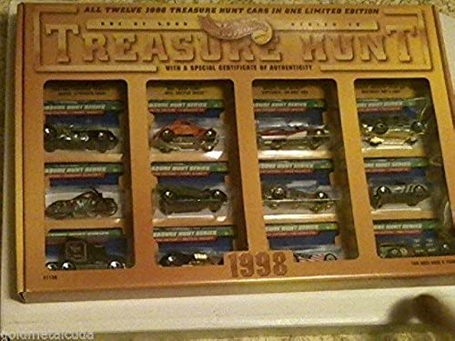 Hot Wheels Treasure Hunt 1998 Limited Edition (1  Only 5000) Series IV Anniversary Set. Includes All 12 t Wheels Treasure Hunt fürzeuge FROM 1998  a special Design Hot Wheels Treasure Hunt 1998 aphical Display, Case Box