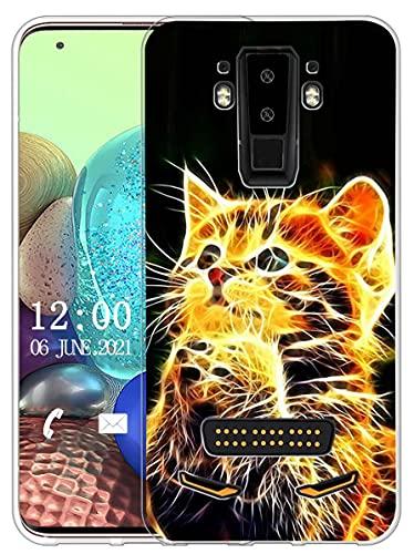 Sunrive Kompatibel mit DOOGEE S90 Hülle Silikon, Transparent Handyhülle Schutzhülle Etui Hülle (X Katze)+Gratis Universal Eingabestift MEHRWEG