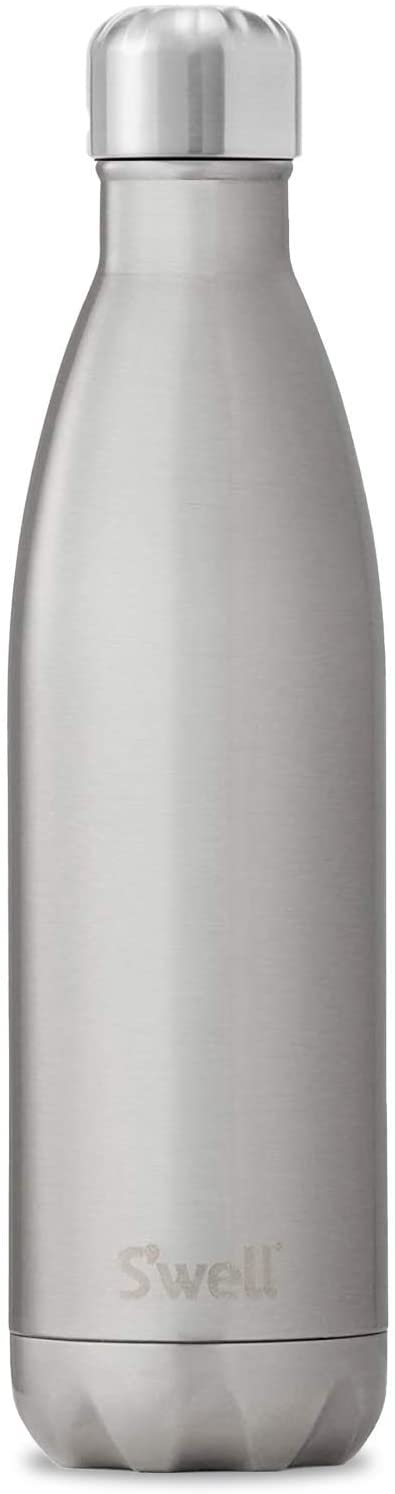 S'well Stainless Steel Water Bottle - 25 Fl Oz - Silver Lining - Triple-Layered Vacuum-Insulated Containers Keeps Drinks Cold for 48 Hours and Hot for 24 - BPA-Free - Perfect for the Go