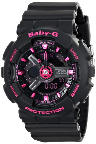 Casio Women's BA-111-1ACR Baby-G Digital Watch