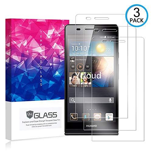 Ycloud [3 Pack] Protector de Pantalla para Huawei Ascend P6,[9H Dureza/0.3mm],[Alta Definicion] Cristal Vidrio Templado Protector para Huawei Ascend P6