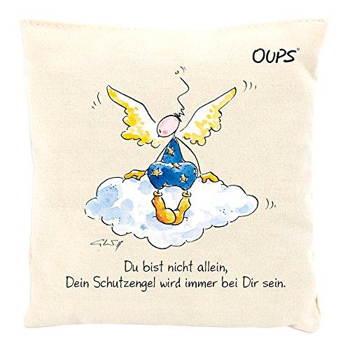 Kräuter Duftkissen Duftkuschler mit einer liebenswerten Botschaft von Oups: Du bist nicht allein, Dein Schutzengel..., 11x11 cm
