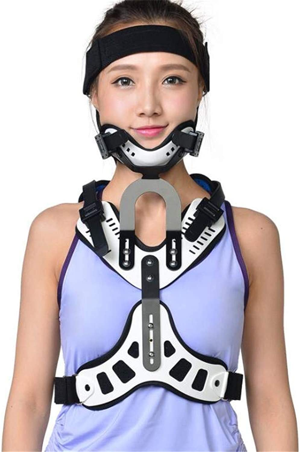 Head Neck Chest Orthosis Adjustable Cervical Thoracic Orthosis U Lumbar Support (Angle Adjustable Breathable)