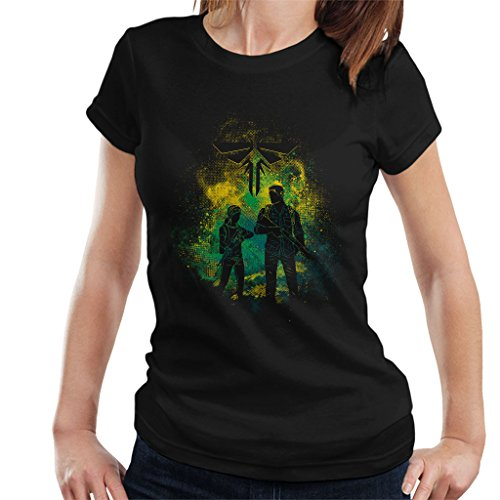 Cloud City 7 The Last of Us Joel and Ellie Outline - Camiseta para mujer