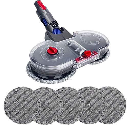 De Galen Ersatzteile, Wischer-Bürste und Reinigungstuch für Elektro-Staubsauger V7, V8, V10, V11, austauschbare Teile mit Wassertank, Staubsauger-Zubehör-Set