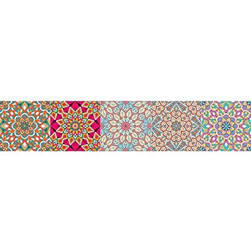 ivAZW Etiqueta engomada Colorida de la Pared del Piso de baldosas Cocina Baño Aseo Decoración Cartel DIY Etiqueta de la Pared 20x100cm 3