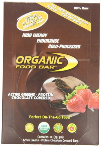 Organic Food Bar, Active Greens Protein Chocolate Covered, 75g (Pack of 12) New York
