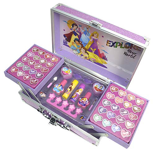 Disney Princess Makeup Train Case, Color Standard (Markwins 1599037E)