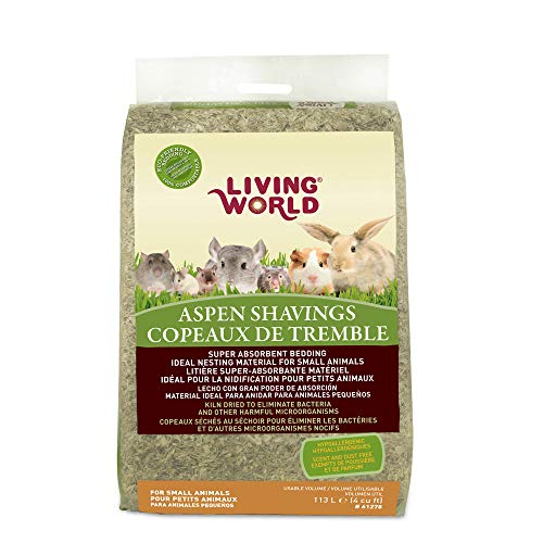 Living World Wood Aspen Shavings, 4-Cubic Feet