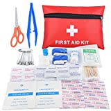 Oziral Botiquín Primeros Auxilios, Mini Kit de Primeros Auxilios a Prueba de Agua, pequeño. Incluye Manta de Aluminio, Tijeras, Suministros médicos para Viajes, hogar, Camping y Aire Libre (112pcs)