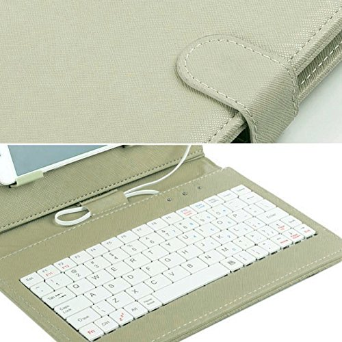Tonsee General Wired Keyboard Flip Holster Case for Andriod Mobile Phone 4.2''-6.8'',Grün