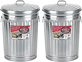 Garbage Steel Trash Can With Side Drop Handles - 20 Gallon (2)