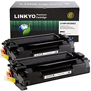LINKYO Compatible Toner Cartridge Replacement for HP 26A CF226A  Black 2-Pack