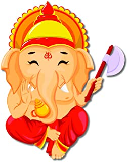 Bhai Please Ganesha Wooden Fridge Magnet (Pack of 1) Ganapati Gift and Home Decor