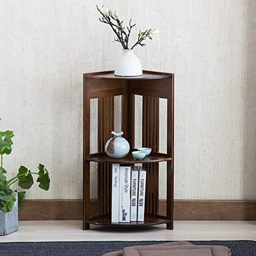 Librerie YANFEI angolare in bambù, scaffale a Parete a più Strati, scaffale da scaffale, Color salubre ed Ecologico, Retro (Dimensioni : 42 * 28 * 79cm)