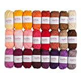 Knit Picks Brava Mini Pack Worsted Premium Acrylic Yarn - 24 Pack (25 Gram Minis, Reds)