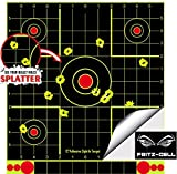 fritz-cell 25 dianas autoadhesivas tipo 1213 para todo tipo de armas, pistolas, pistolas de aire, airsoft, BB, diábolo, compatible con objetivos Splatterburst