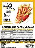 Tiras de Bacon Vegano 250g, Viva Planta | Vegan | Sin carne | 100% Vegetal | Plant Based | Sin Gluten (Pack de 1)