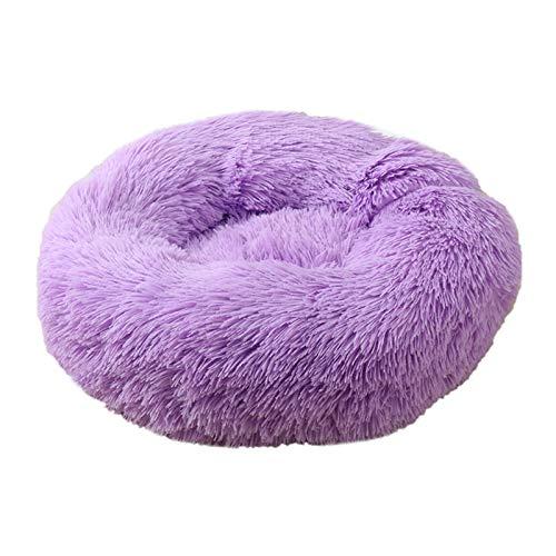 Cama para Mascotas, Peluche Super Suave Bed Bed Kennel Redondo Bolsa de Dormir Lazy Cat House Cálido Invierno Sofá Cesta Pequeño Perro Medio Medio para Mascotas (Color : M, Size : L Diameter 70cm)