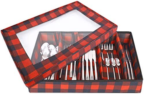 Flatware Storage Chest Cutlery Container Box Utensils Holder Silverware Tray Kitchen Knife Drawer product image