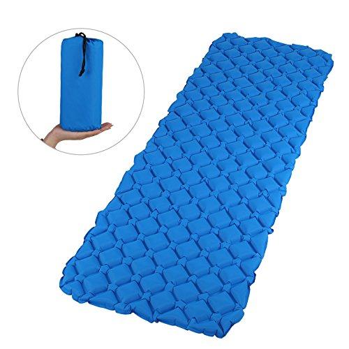 GWHOLE Camping Luftmatratze Aufblasbar Campingmatratze für Wandern Outdoor Zelt blau, 190 x 66 cm