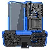 SKTGSLAMY Moto G Power case,Motorola G Power case,with HD Screen Protector, [Shockproof] Tough Rugged Dual Layer Protective Case Hybrid Kickstand Cover for Motorola Moto G Power 2020 (Blue)