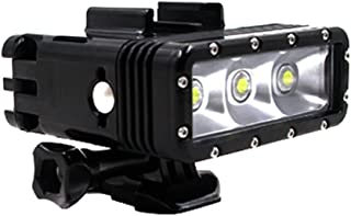 TELESIN Waterproof Superpower Dual Battery Rechargeable Underwater Diving Light Flash Dimmable LED Fill Night Light Mount ...