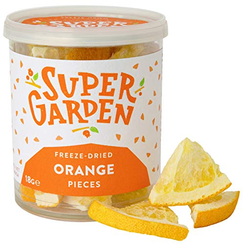 Supergarden Freeze Dried Orange Pieces - 100% Pure and Natural - Vegan Friendly - No Added Sugar, no Artificial additives and no preservatives - Gluten Free - Non-GMO