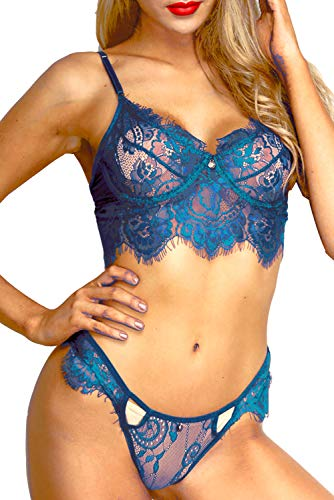 The Victory of Cupid Sexy Lingerie for Women, Lace Lingerie, Underwear, Bra, Lace Bralette And Panty Set