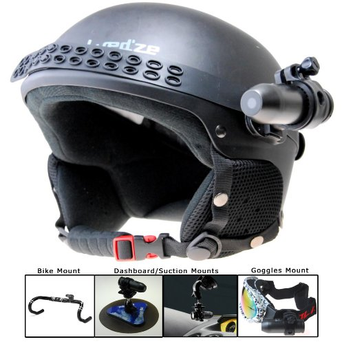 BulletHD Waterproof 12.0 MP 720p HD Helmet Camera with Fisheye Lens - Includes all Accessories