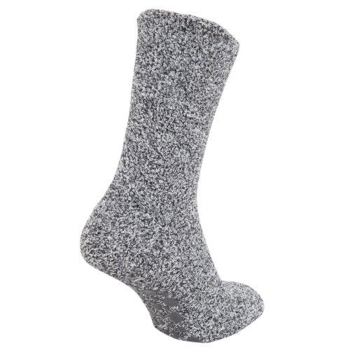 Floso – Calcetines antideslizantes para hombre, gris, EUR