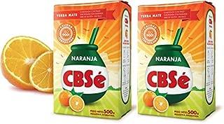 YERBA MATE CBSE ORANGE FLAVOR - SABOR NARANJA 500 GR/1.1 LB (2PACK)