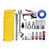 20Pcs Air Compressor Accessory Kit, Dust Removing Blow Gun with Air Compressor Tool and Nozzle Accessories...