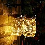 BJYG Paquete de 4 linternas de Vidrio solares para jardín al...