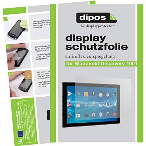 dipos I 2X Schutzfolie matt kompatibel mit Blaupunkt Discovery 1001 Folie Bildschirmschutzfolie