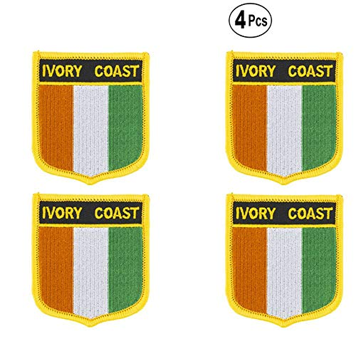 Ivoorkust afgeschermde vorm vlag patches nationale vlag patches voor Cothing DIY Decoratie