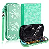 Carry Case for Switch, Slim Protective Case for Switch with 10 Game Card Slots, Portable Shockproof PU Hard Cover Storage Bag Travel Case for Switch & Accessories