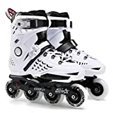 Roller Blade Adult Roller Skates Inline for Boys and Girls (White,39)