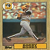 Barry Bonds Rookie 1987 Topps No.320 Baseball Card. rookie card picture