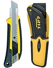 Funda de cinturón especial Tajima para GRI-Cutter 18 mm con tecla, incluye LC560, amarillo, 1 unidad, TAJ-19646